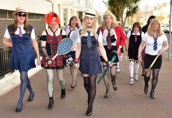 St.Trinians Girls stride out, Photo by Sophie Tagg