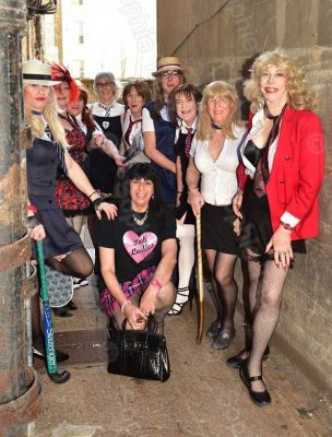 St.Trinians Girls in back passage, Photo by Sophie Tagg